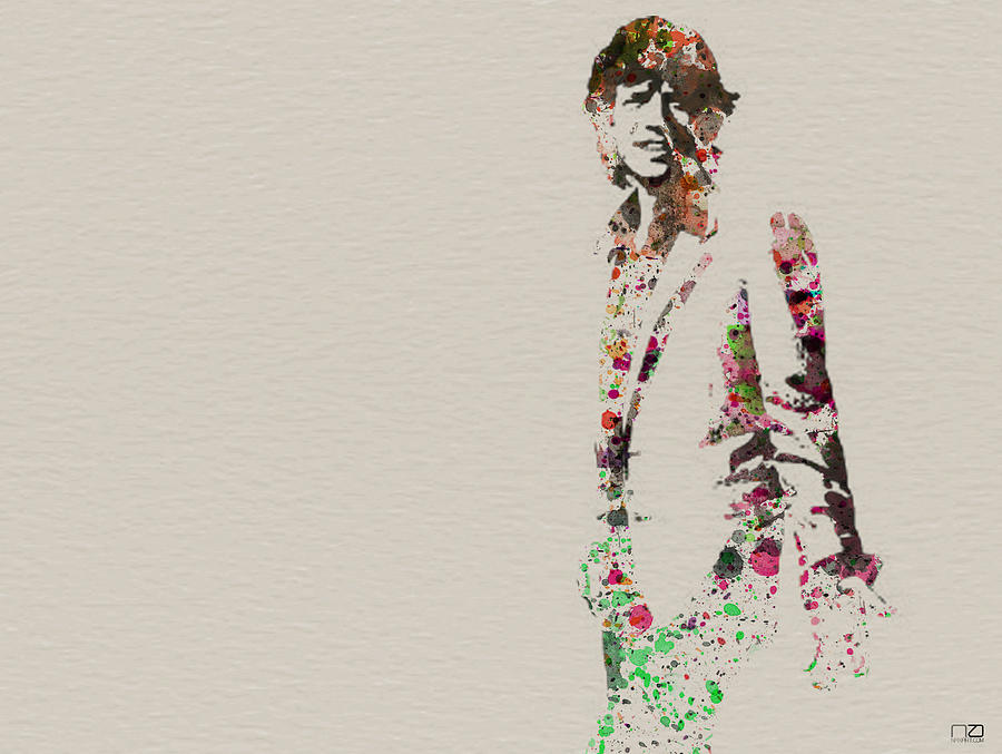 Mick Jagger Watercolor Painting  - Mick Jagger Watercolor Fine Art Print