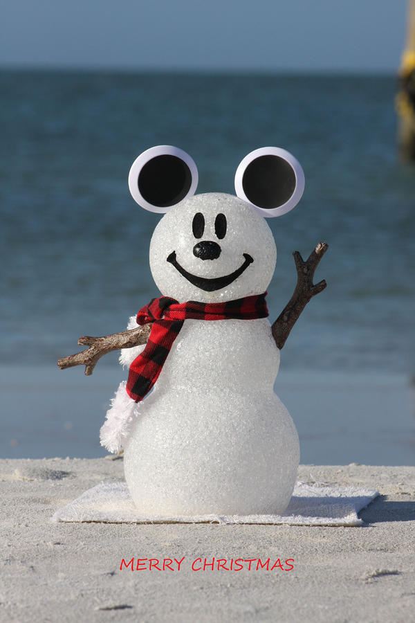 Mickey mouse snowman by shari bailey