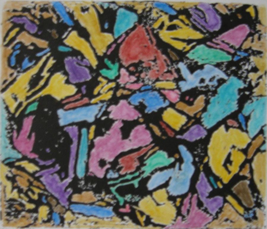 Microscopic Meteorite Mixed Media