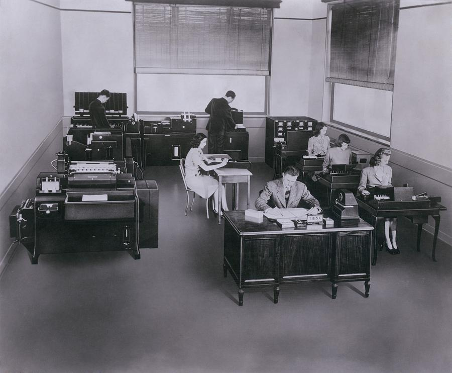Mid-century State Of The Art Ibm Photograph