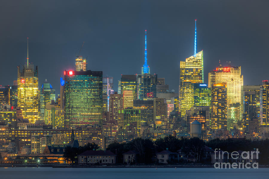 Mid-town Manhattan Twilight I Photograph  - Mid-town Manhattan Twilight I Fine Art Print