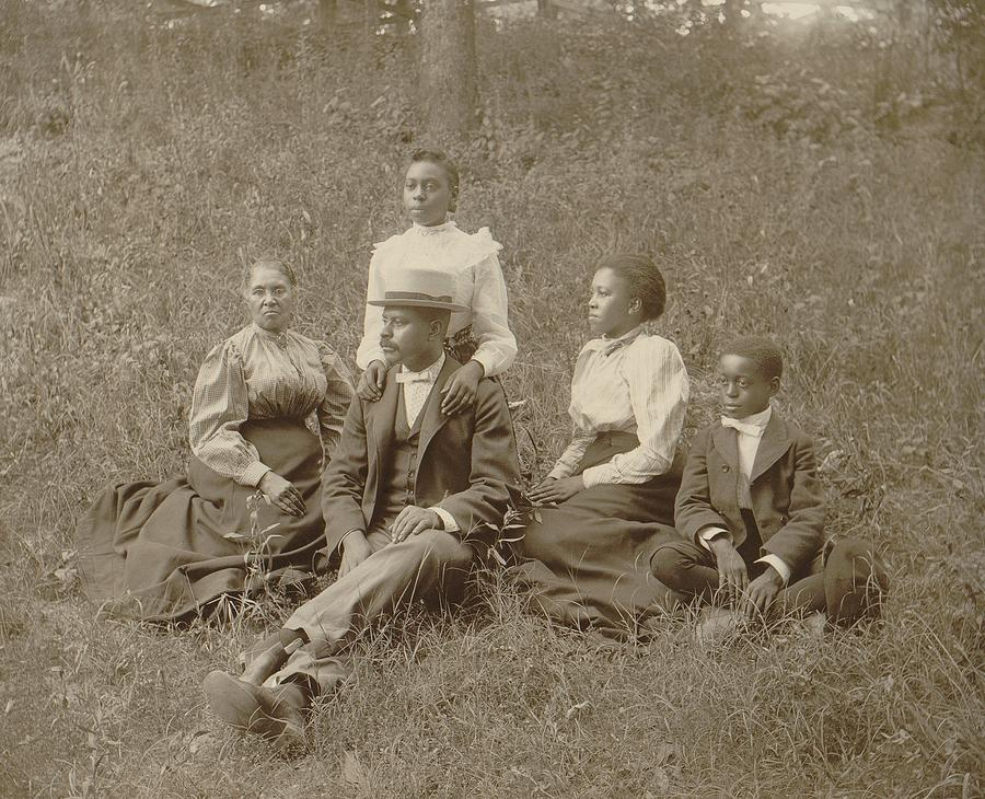 Middle Class African American Family Photograph
