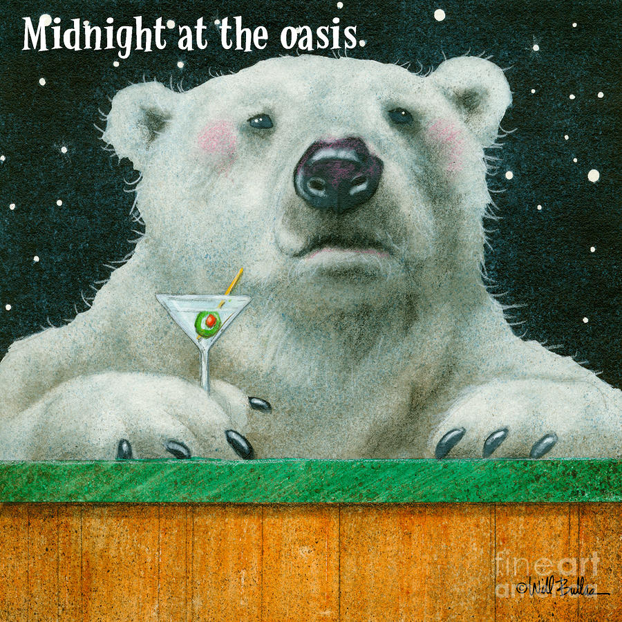 Midnight At The Oasis... Painting  - Midnight At The Oasis... Fine Art Print