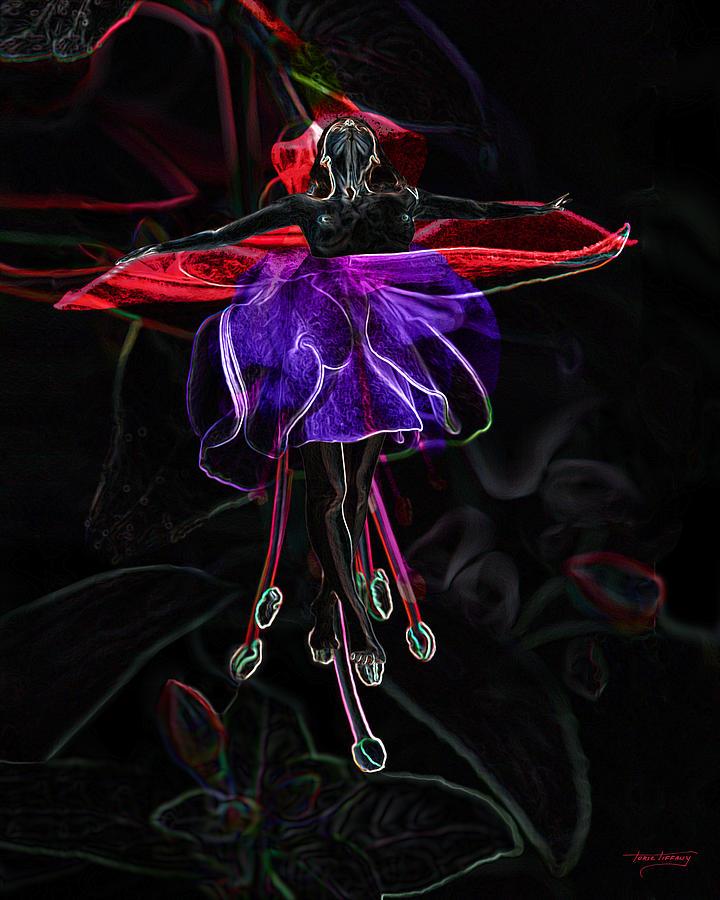 Midnight Bloom Digital Art