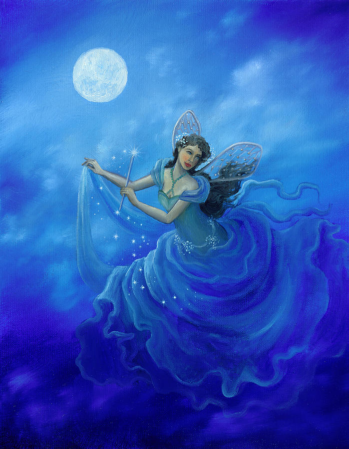 Midnight Fairy Painting  - Midnight Fairy Fine Art Print
