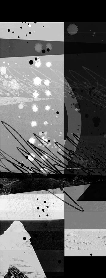 Midnight In The City 1 Triptych Digital Art