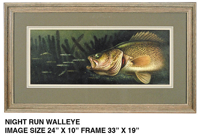 Midnight Run Walleye Painting