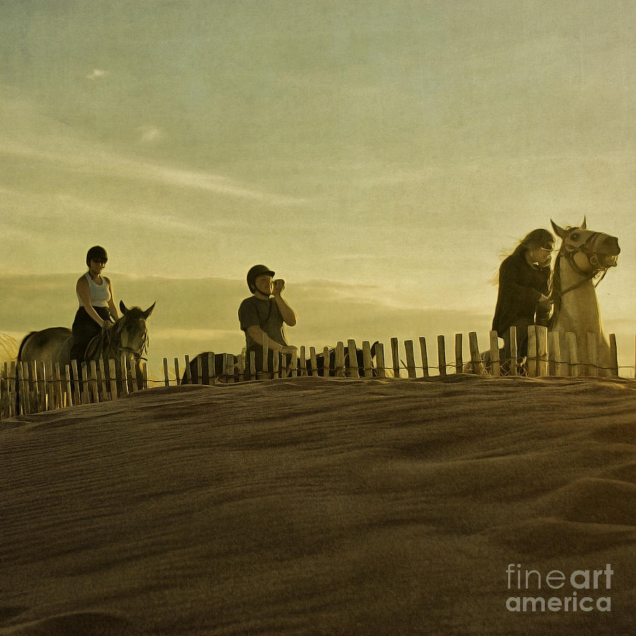 Midsummer Evening Horse Ride Photograph  - Midsummer Evening Horse Ride Fine Art Print