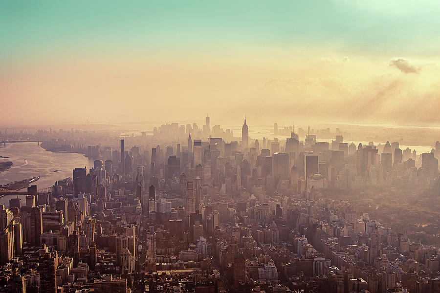 Midtown Manhattan At Dusk Photograph  - Midtown Manhattan At Dusk Fine Art Print