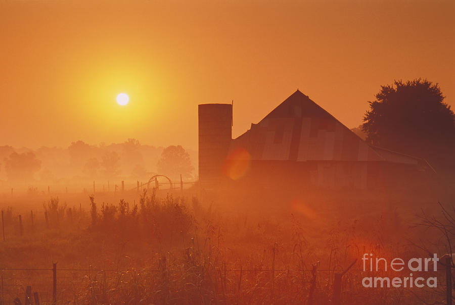 Midwestern Rural Sunrise - Fs000405 Photograph