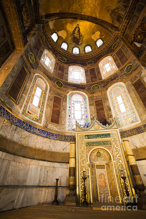 Mihrab In The Hagia Sophia Photograph  - Mihrab In The Hagia Sophia Fine Art Print