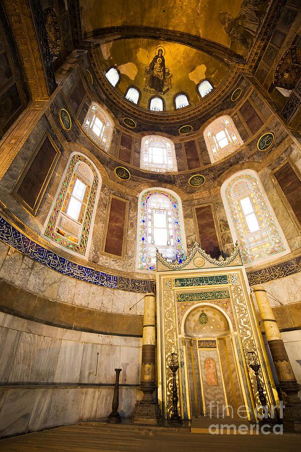 Mihrab In The Hagia Sophia Photograph