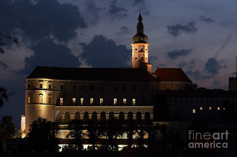 Mikulov Castle At Night Photograph  - Mikulov Castle At Night Fine Art Print
