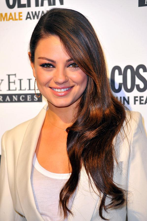 Mila Kunis At Arrivals For Cosmopolitan Photograph  - Mila Kunis At Arrivals For Cosmopolitan Fine Art Print