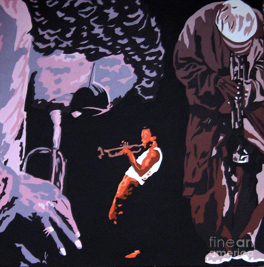 Miles Davis II Painting