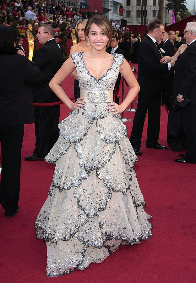 Miley Cyrus Wearing A Zuhair Murad Gown Photograph