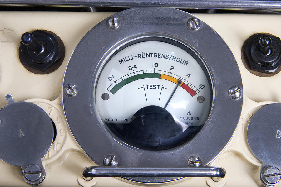 Device Photograph - Military Radiation Meter by Sheila Terry