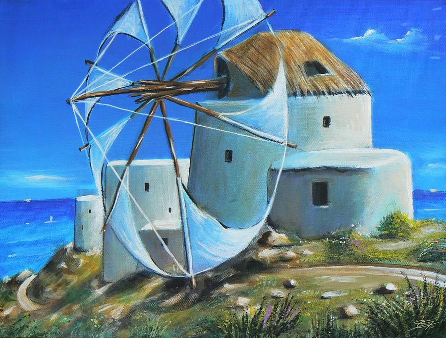 Mill on the Hill Painting  - Mill on the Hill Fine Art Print