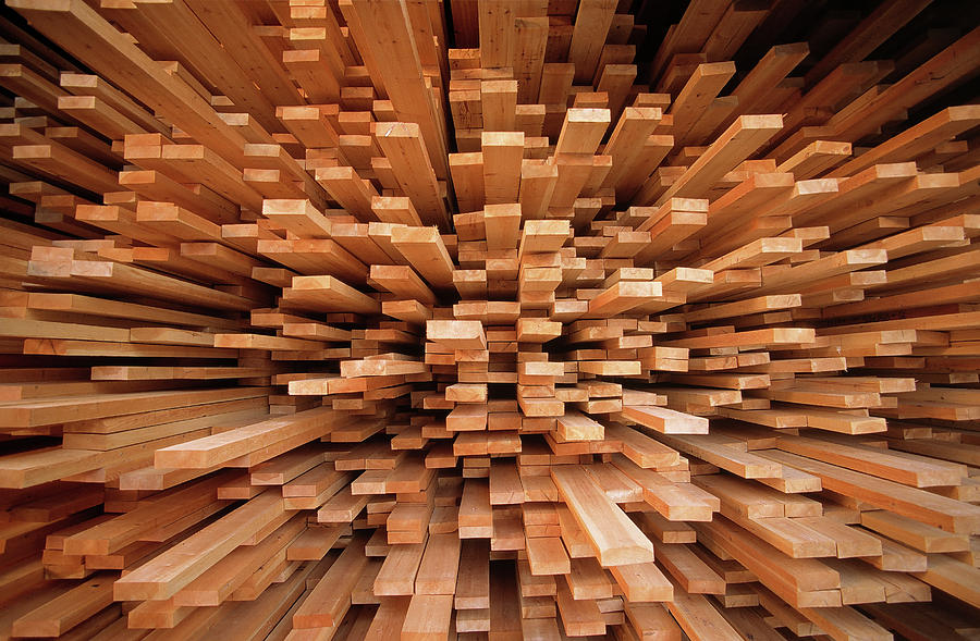 Art On Wood Planks ~ Milled wood planks in a stack europe photograph by flip