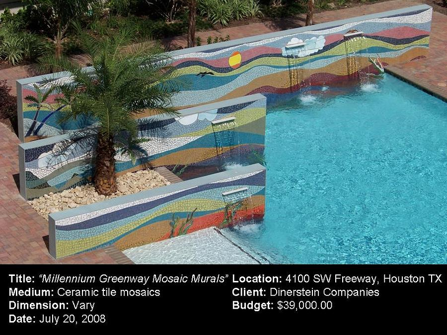 Millenium Greenway Mosaic Murals Ceramic Art
