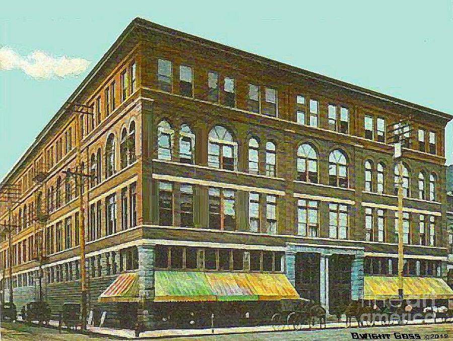 Miller Bros. Department Store In Chattanooga Tn In 1910 Painting  - Miller Bros. Department Store In Chattanooga Tn In 1910 Fine Art Print