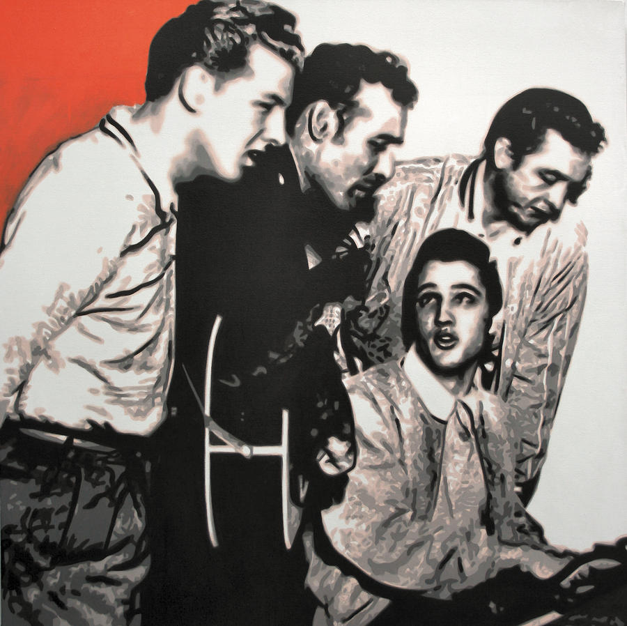 Million Dollar Quartet Painting