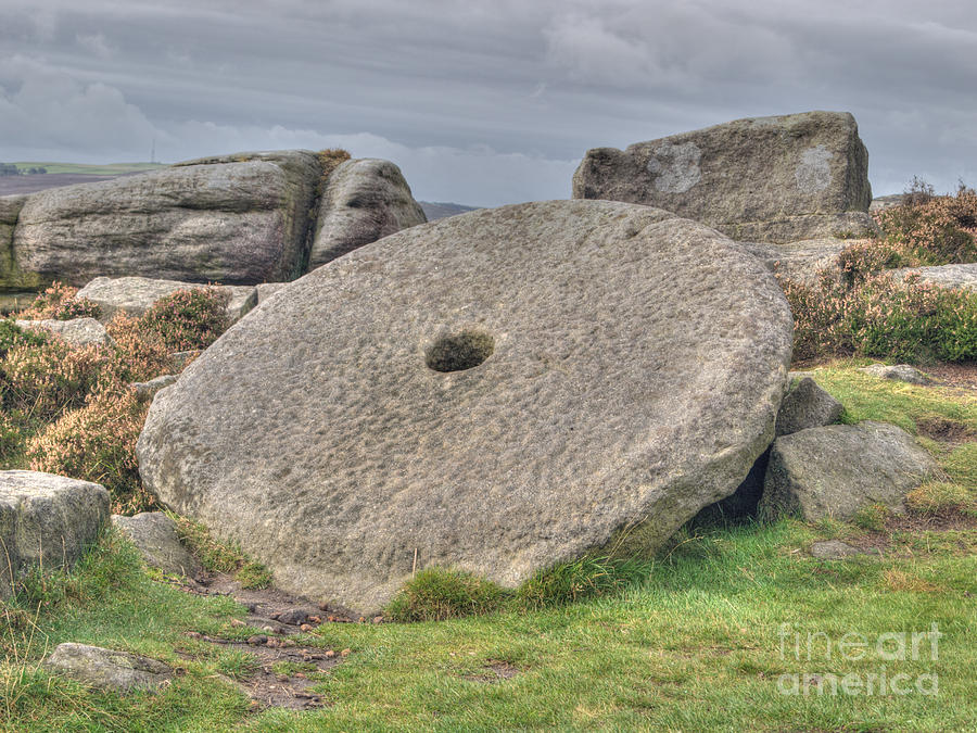 Millstone On Edge Photograph  - Millstone On Edge Fine Art Print