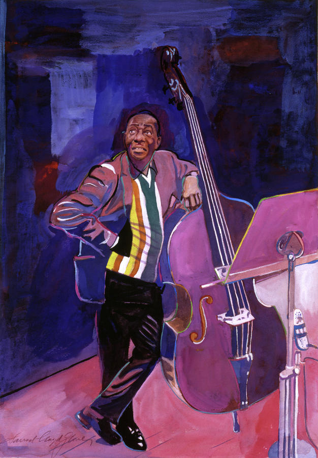 Milt Hinton Jazz Bass Painting  - Milt Hinton Jazz Bass Fine Art Print
