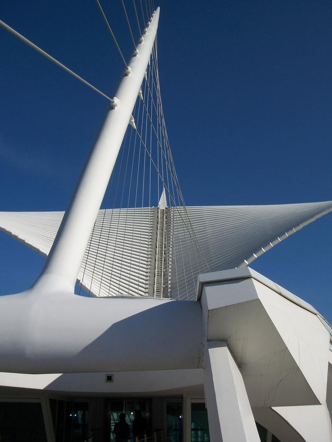 Milwaukee Art Museum Cropped Photograph  - Milwaukee Art Museum Cropped Fine Art Print