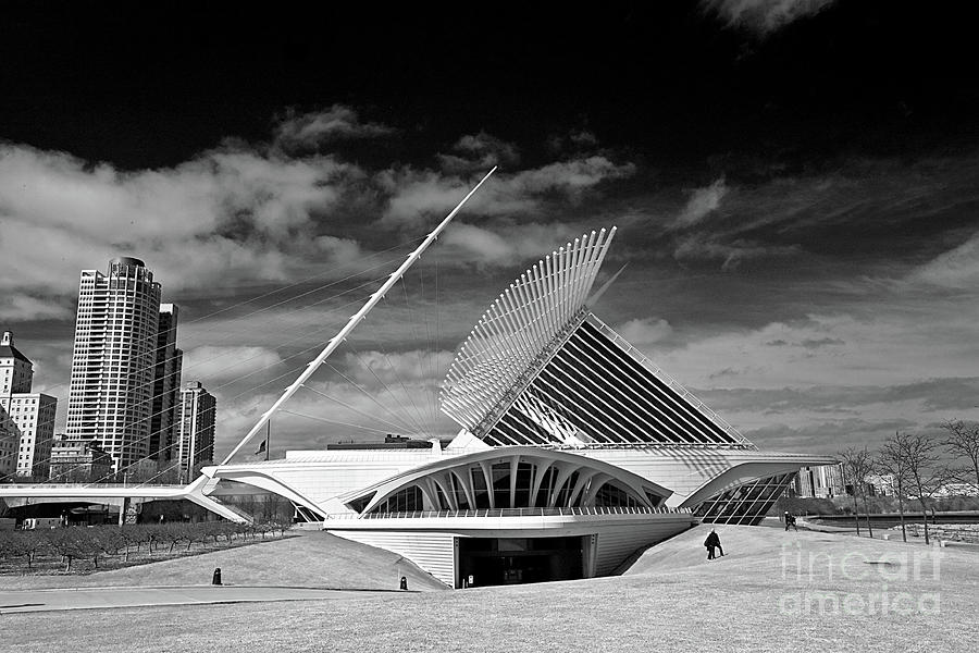 Milwaukee Art Museum Infrared Photograph  - Milwaukee Art Museum Infrared Fine Art Print