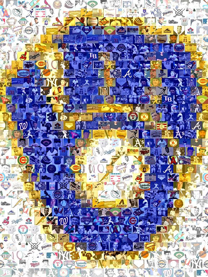 Milwaukee Brewers Mosaic Drawing  - Milwaukee Brewers Mosaic Fine Art Print