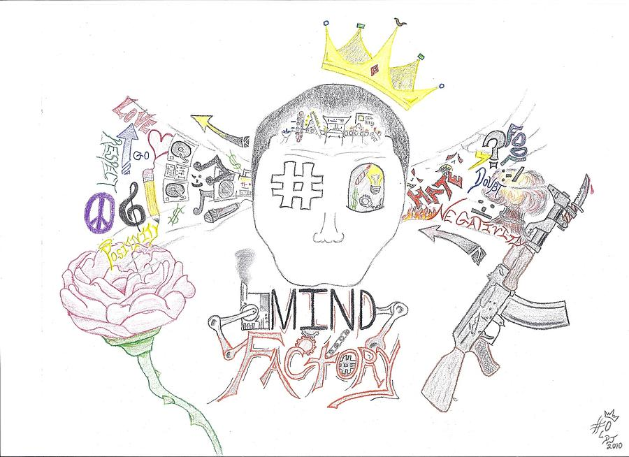 Mind Factory Drawing  - Mind Factory Fine Art Print