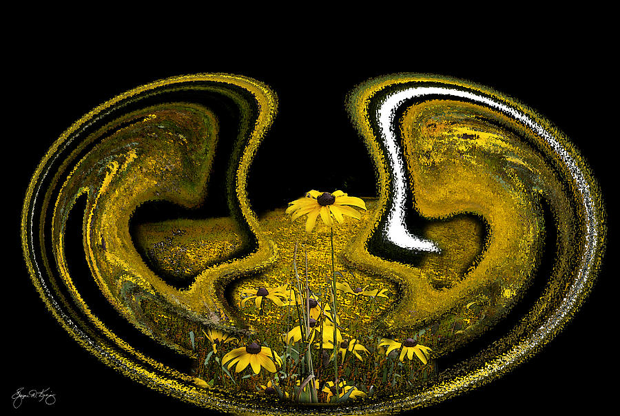 Mindscape From A Field Of Susans Photograph  - Mindscape From A Field Of Susans Fine Art Print
