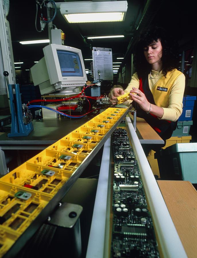 Lego Manufacture Photograph - Mindstorm Programmable Lego Brick Manufacture by Volker Steger