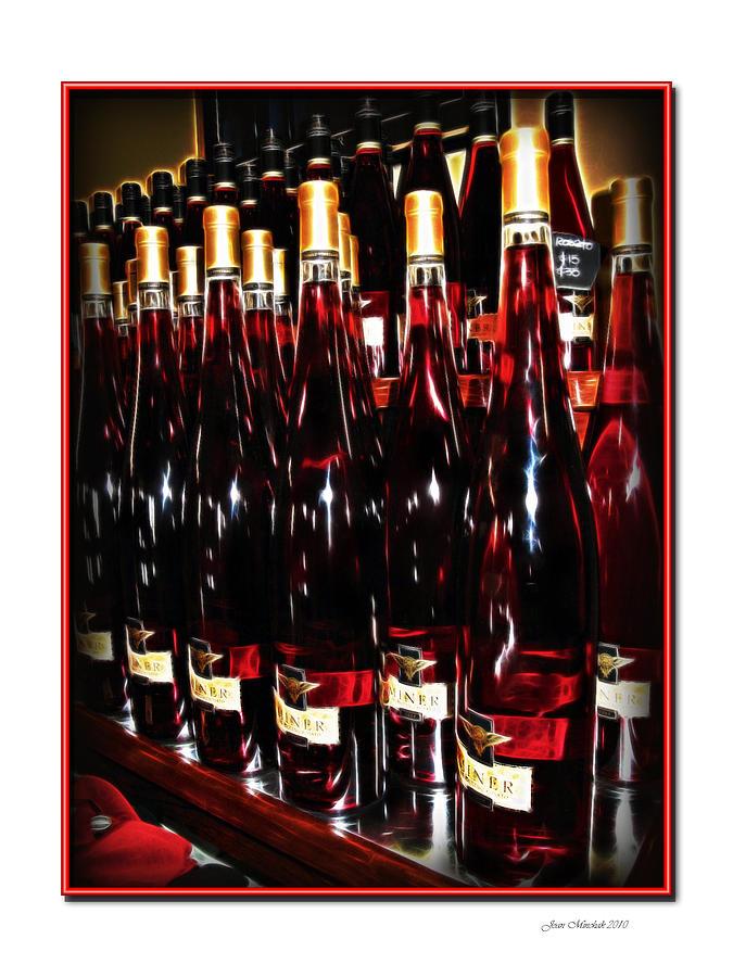 Miner Pink Sparkling Wine Photograph