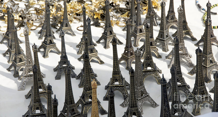 Miniature Eiffel Tower Souvenir. Paris. France Photograph