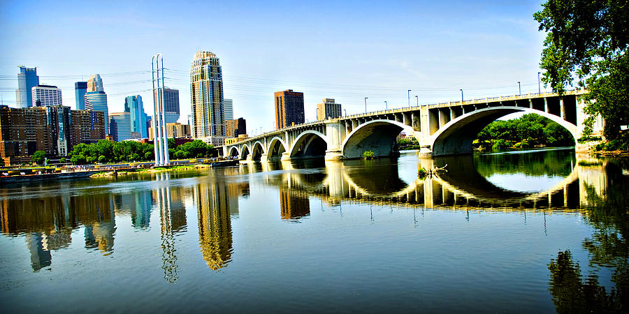 Minneapolis Bridge Photograph