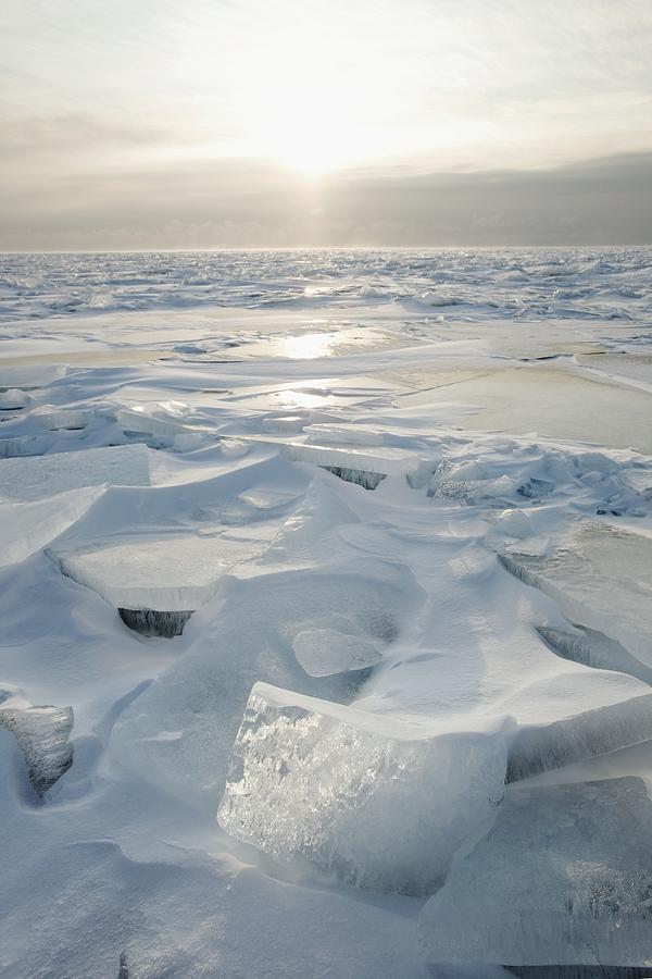 Lake Photograph - Minnesota, United States Of America Ice by Susan Dykstra