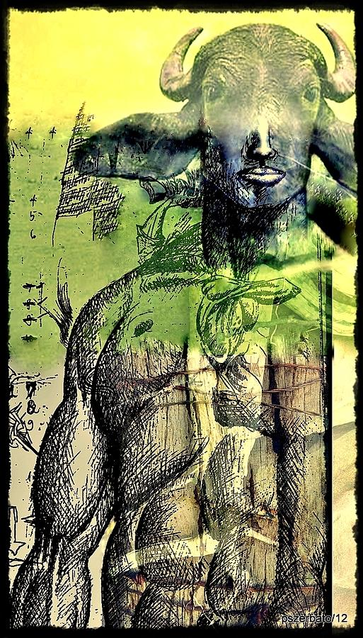 Minotaurus Digital Art