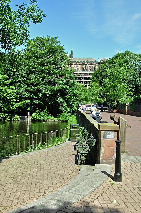 Minster Pool And Dam Street - Lichfield Photograph  - Minster Pool And Dam Street - Lichfield Fine Art Print