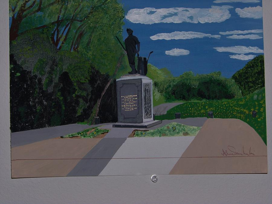 Minuteman Memorial Painting  - Minuteman Memorial Fine Art Print