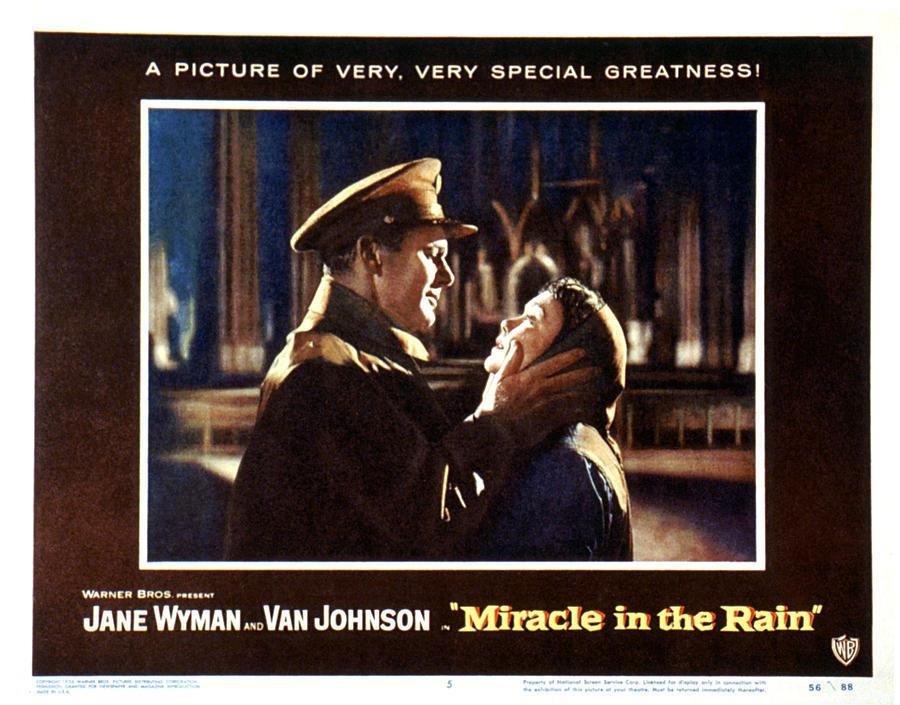 1956 Movies Photograph - Miracle In The Rain, Van Johnson, Jane by Everett