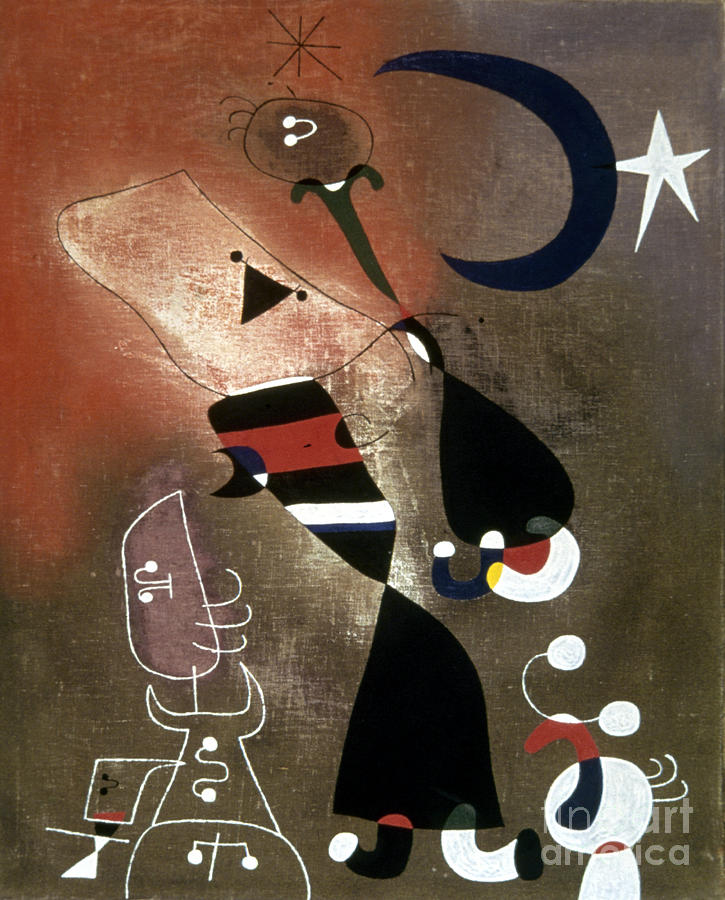 Miro: Women, Bird, 1946 Photograph