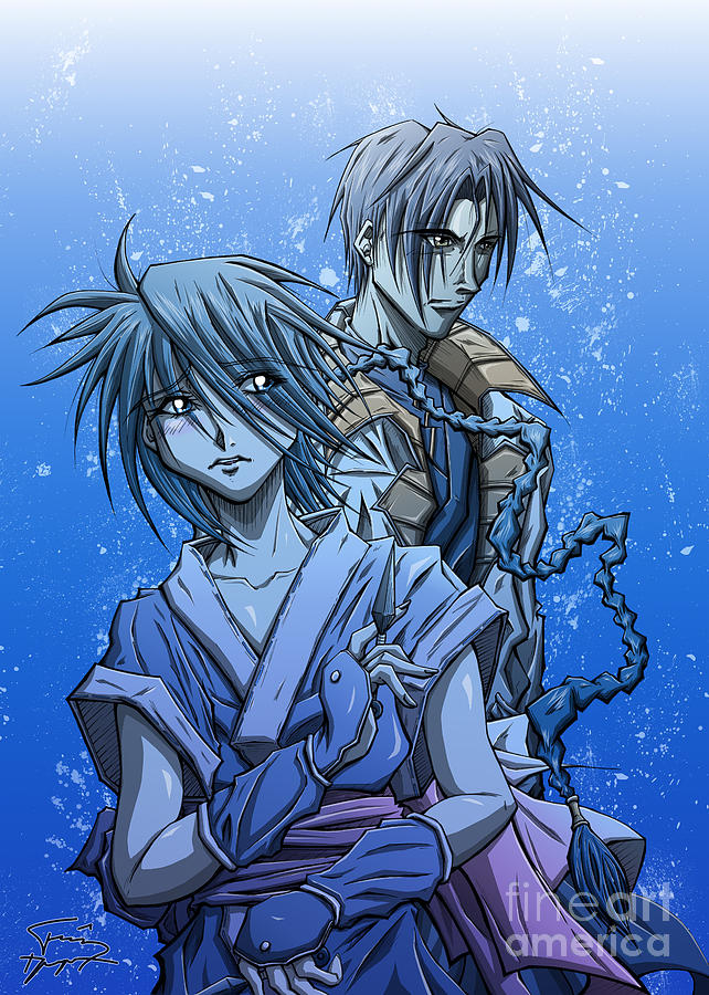 Misao And Aoshi Drawing