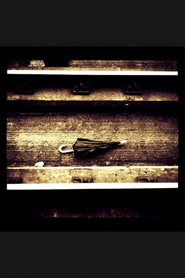 Train/umbrella Photograph - Missing Love by Bryan Tulloch