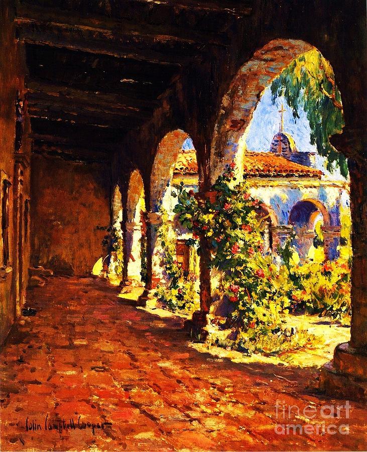 Mission Corridor San Juan Capistrano Painting