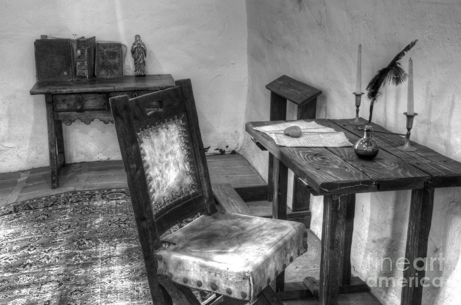 Mission San Diego De Alcala Writing Table Photograph