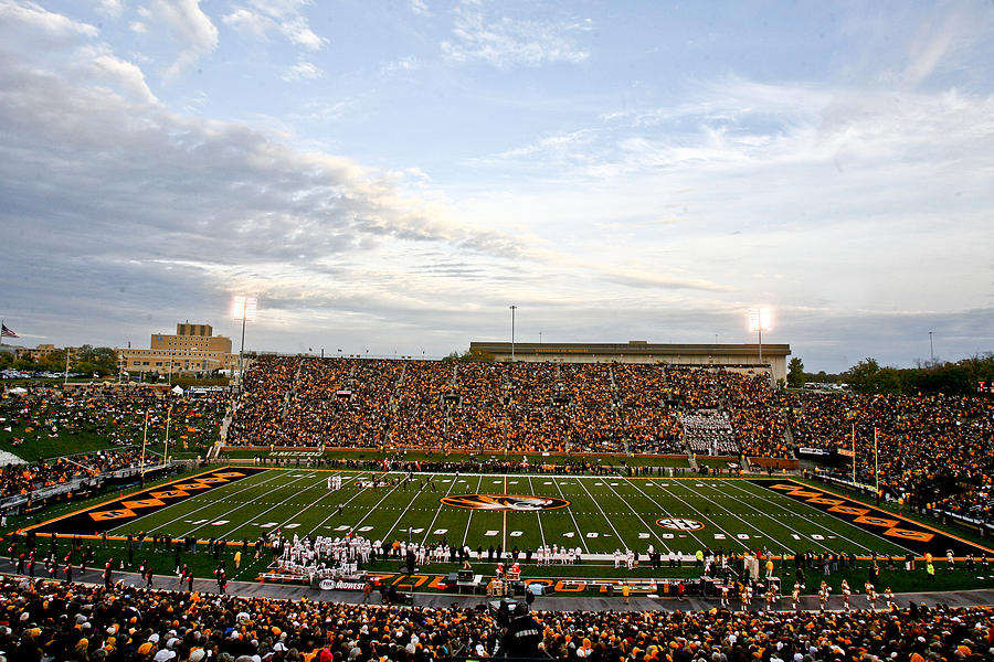 Missouri Memorial Stadium On Game Day Photograph