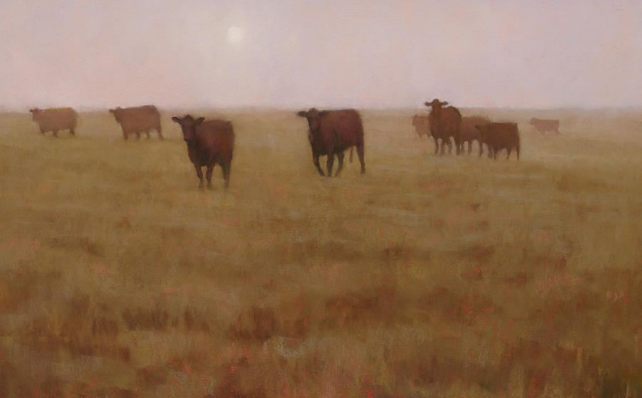 Cow Painting - Missouri Morn by Brian Freeman