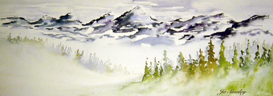 Mist In The Mountains Painting  - Mist In The Mountains Fine Art Print